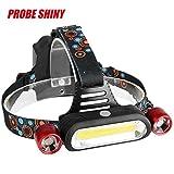 LED Headlight Headlamp, Lonshell 15000LM Hard Light 2x XM-L T6 Cree LED +COB Headlamp Torch 4-Mode Helmet Light, Camping Hunting Hiking Fishing (Red Headlamp Only)