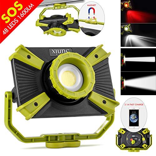 Luz trabajo LED recargable Foco ajustable portátil