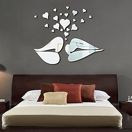 SHUNYUS wasserdichte Küsse entworfen Schlafzimmer Küche Wohnzimmer Wohnkultur Spiegel Aufkleber -