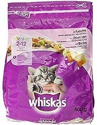 Whiskas Katzenfutter Trockenfutter Junior für junge Katzen mit Lachs (1 x 800 g)