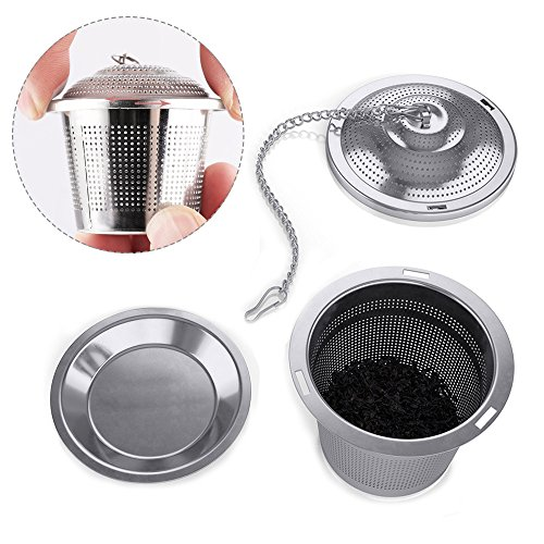 Tea Infuser Set by Abimars Set of 4 - Tea Strainer Tea Filter Ultra Fine Stainless Steel Strainer Reusable Strainers and Steepers