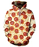 Rave on Friday 3D Hoody Jungen Sweatshirt Pizza Drawstring Casual