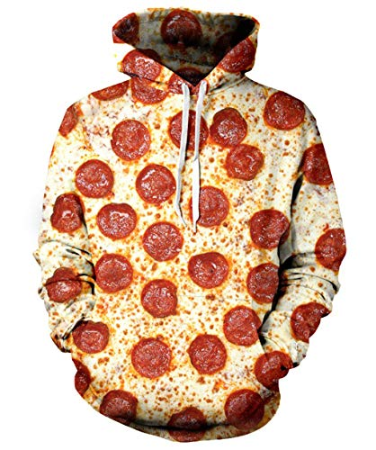 Rave on Friday 3D Weinachts Pullover Teenager Mädchen Frauen Pizza Hoodie Coole Lustige B