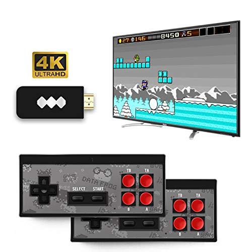 Leoie 4K HDMI Video Game Console Mini Retro Console Wireless Controller HDMI Output Dual Players