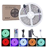 ECOLUX® IP65 Wasserdicht 300 LEDs 5050 SMD RGB LED Stripe, LED band, LED Lichtleisten, Set ink IR Kabelose Fernbedienung mit 44 Schaltflächen 6A Netzteil und Control Box