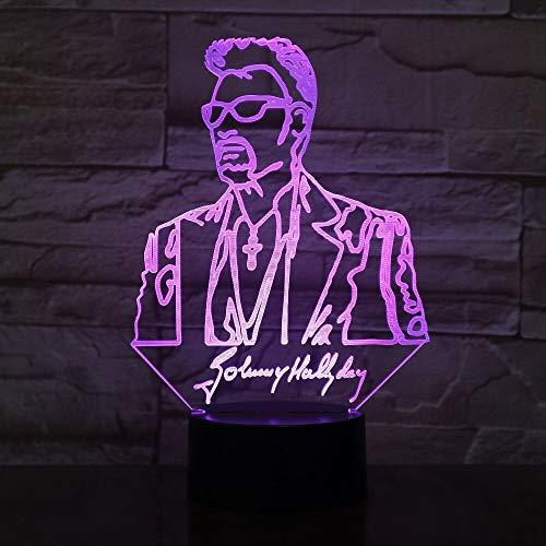 tzxdbh 3D Led Nettes Nachtlicht Für Kidsnovelty Illusion Touch S Chang Baby Nachttisch P7 Farbwechsel Dekorative Lichter Mit Fernbedienung Nachttisch