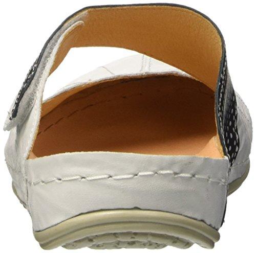 Dr. Brinkmann Ladies 700876 Mules White (bianco / Nero)