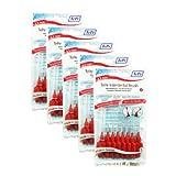 TePe Interdentalbuerste 0,5mm rot, 5 Pakete von 8 (40 Bürsten)