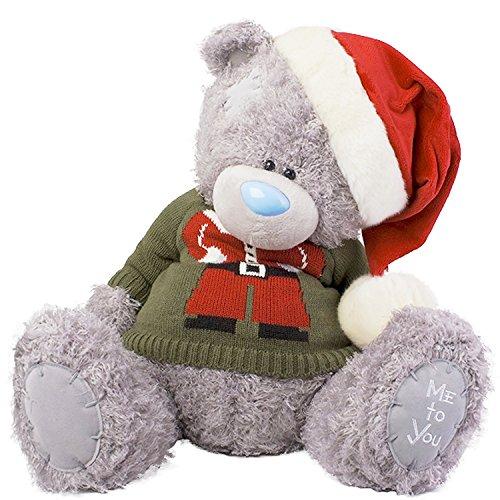 Extra großer Me To You Tatty Teddybär Big Plüsch-Pullover mit Weihnachts-Mütze Santa (Plüsch Mütze Santa)