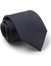 Savile Row Men's Navy Gold Pinspot Silk Tie