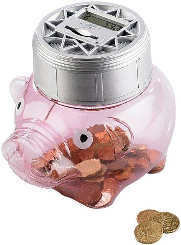 Produktbild infactory Spardosen: Sparschwein mit automatischer Zählfunktion (Geldgeschenke)
