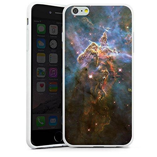 Apple iPhone X Silikon Hülle Case Schutzhülle Mystic Mountain Galaxy Space Silikon Case weiß