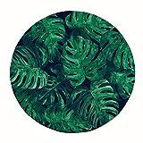 CWJ Teppich-Schlafzimmer Nordic Green Computer Drehstuhl Runde Teppich Hängesessel Wasserabsorbierende Bodenmatte Eingangshalle Veranda Wasseraufnahme Schnelltrocknend,80 cm,B