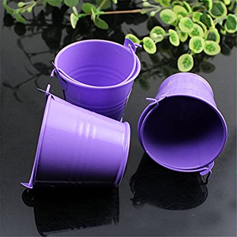 Yontree 10 Pcs Mini Tinplate Buckets Wedding Party Candy New