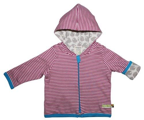 loud + proud Unisex - Baby Jacke, gestreift 340, Gr. 50/56, Pink (Fuchsia)