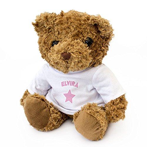 - ELVIRA - Braun Teddybär - Niedlich Weich Kuschelig - Geschenk Geburtstag