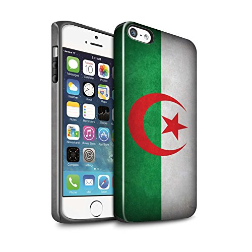 STUFF4 Glanz Harten Stoßfest Hülle / Case für Apple iPhone 7 / Russland/Russische Muster / Flagge Kollektion Algerien/Algerische