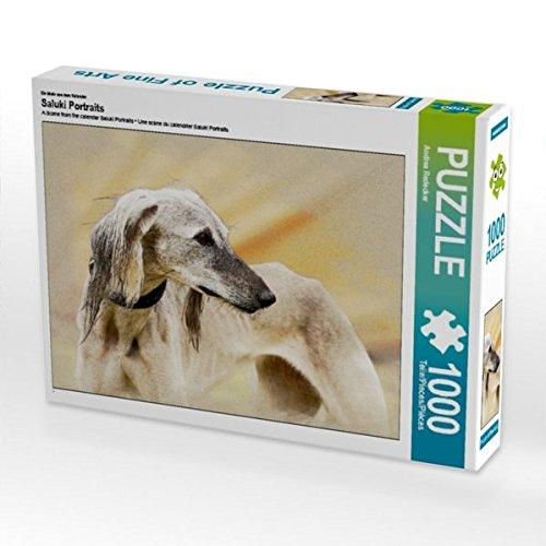 lender Saluki Portraits 1000 Teile Puzzle quer (CALVENDO Tiere) ()