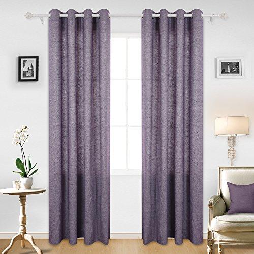 Deconovo tende con occhielli tende finestre a vetro decorative per la casa 140x245 cm viola 2 pannelli