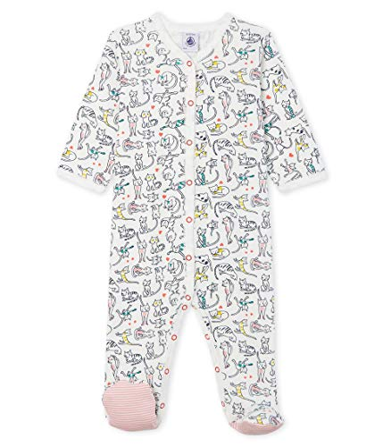 Petit Bateau Dors Bien Y_4996801 Pyjama, Multicolore (Marshmallow/Multico 01), 68 (Taille Fabricant:...
