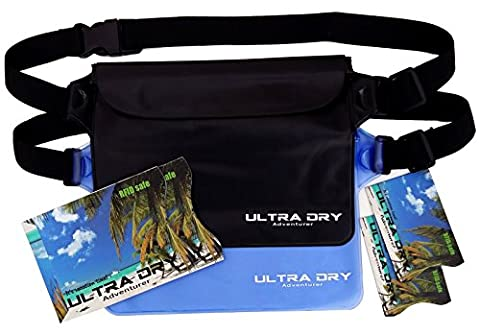 Waterproof Pouches Bags with Adjustable Waist Strap & RFID Identity Theft Protection Sleeves Keeping Your Phone & Valuables Safe & Dry, Perfect for Boating Swimming Snorkeling Kayaking