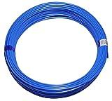Polyurethan Druckluft Schlauch PU Pneumatikschlauch, 6mm außen, 50 m Rolle, Farbe: blau