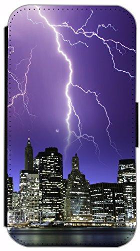 Flip Cover für Apple iPhone 4 / 4s Design 477 Pferd Hengst Weiß Wiese Grün Weiß Blau Hülle aus Kunst-Leder Handytasche Etui Schutzhülle Case Wallet Buchflip (477) 480