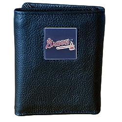 MLB Atlanta Braves Genuine Leather Tri-fold Wallet