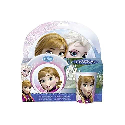 Preisvergleich Produktbild P:OS Handels Frühstücksset Disney Frozen, 3 Teilig Teller, Schale und Becher