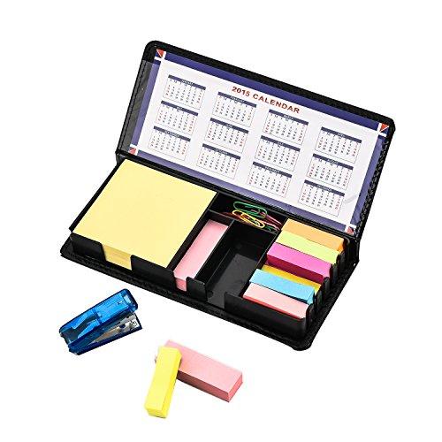 arpan-deluxe-sticky-memo-nota-da-scrivania-cofanetto-con-indice-segnalibro-con-1-mini-staple-20pc-cl