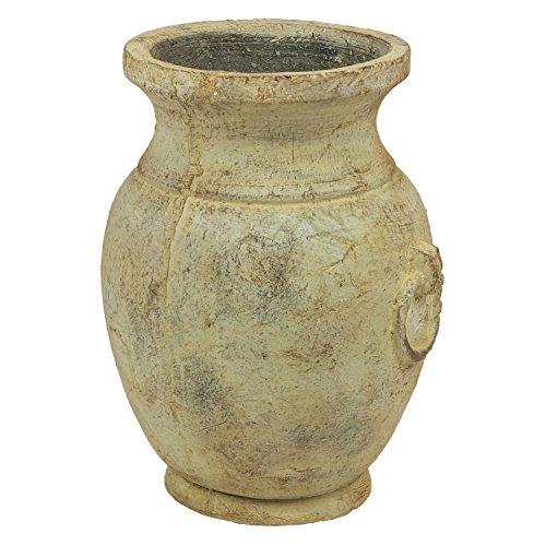 Keramik Pflanzpokal Pflanzkübel Krug Blumentopf Haus Deko Pflanztopf Antik Look - Groß Krug