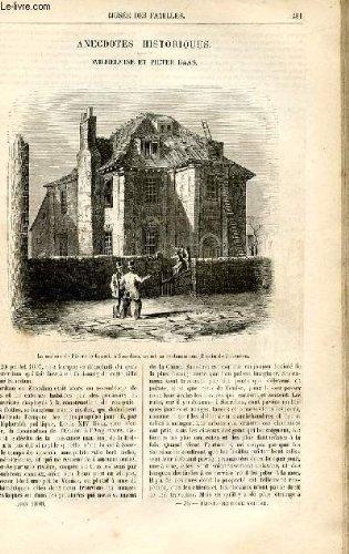 Le muse des familles - lecture du soir - livraison n36 - anecdotes historiques - wilhelmine et pieter baas par a. de fleury.