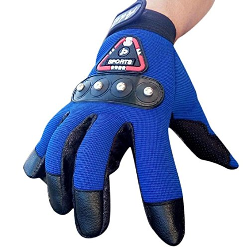 Preisvergleich Produktbild Handschuhe Transer® Herren Luxuriöses PU-Leder Rutschfeste Handschuhe Jungen Outdoor Winter Warm Full Finger Handschuhe für Biker Racing / Radfahren / Fahren / Reiten / Klettern