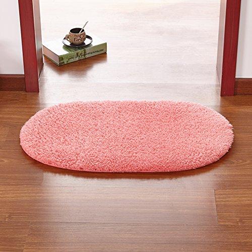 qwer Cucina wc tappetino zerbino bagno pad assorbenti camera da letto porte di ingresso principale hall per il resto è entrato il pad di gate ,50x160cm, round rosa