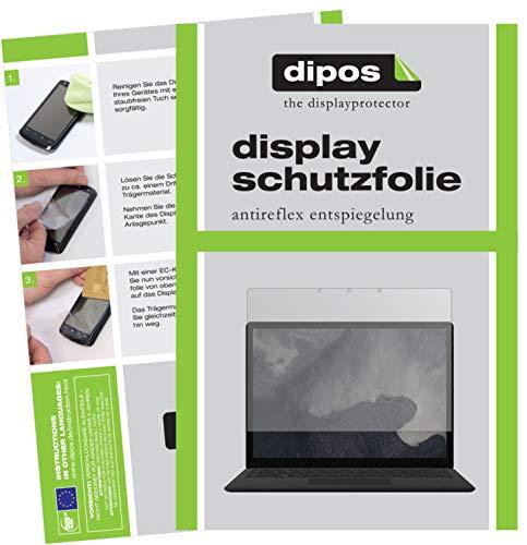 dipos I 2X Schutzfolie matt passend für Microsoft Surface Laptop 2 13.5 Zoll Folie Bildschirmschutzfolie