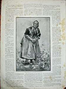 Pommes De Terre 1900 de Creusement de Vieille Femme de Kerry de Beaux-Arts Irlande