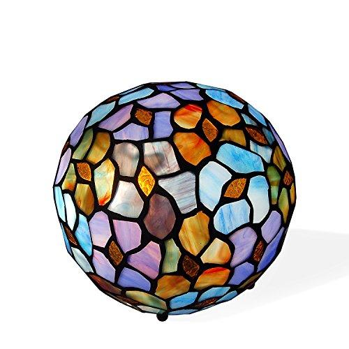 Arte dal Mondo THF1815 Abat-Jour Sfera con Fiori, Vetro, Multicolore, 17x17 cm, 25 watts