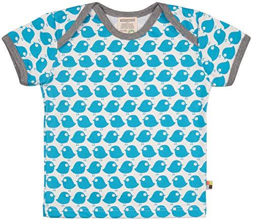 loud + proud Unisex Baby Bio Baumwolle, GOTS Zertifiziert T-Shirt, Blau (Petrol Pe), (Herstellergröße: 98/104) -