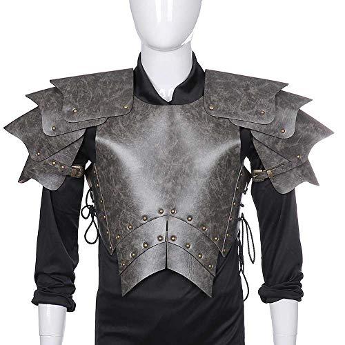 GLXQIJ Krieger Lace-Up Pu-Leder Männer Rüstung Erwachsene Bühne Party Mittelalterlichen Kostüm Weiche Cosplay Requisiten, One - Mittelalterliche Krieger Kostüm Für Erwachsene