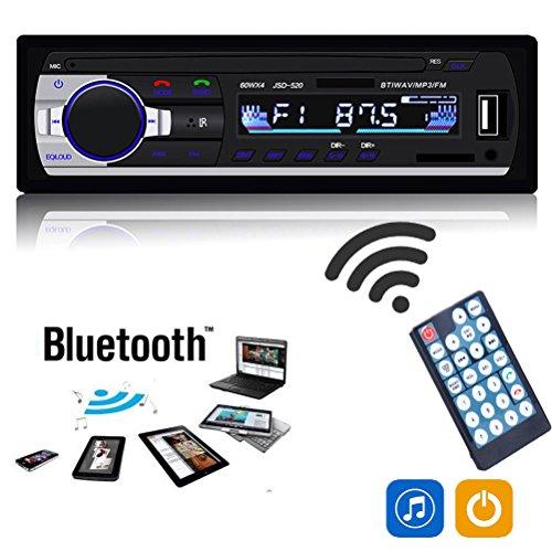 Alcoa Prime Bluetooth JSD-520 Car FM Radio Stereo Audio Receiver MP3 Player SD/USB/AUX/P&T