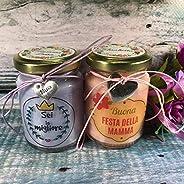 Ti voglio bene Mamma 2 vasetti con candele di cera di soia e oli essenziali Festa della Mamma Idea Regalo per