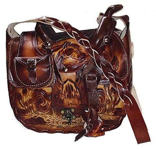 Tasche Handtasche Schultertasche Westerntasche Sattel 100% Leder - Pferde-leder Tasche