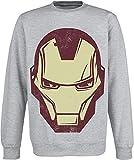 Iron Man - Avengers Assemble - Oficial Sudadera para Hombre (Jersey) - Gris, XX-Large