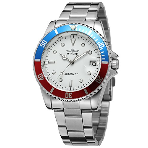 FORSINING Men\'s Vintage Automatic Stainless Steel Bracelet Analogue Collection Watch WRG8066M4T7