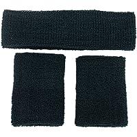 TOOGOO(R) bande 1x fascia e 2x elastico da polso per Sport - verde scuro