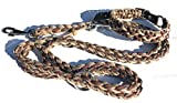 Viva Nature Handgemachtes Hunde-Halsband MIT Leine im Set/verstellbar 35-42 cm \ Paracord-PP-Flechtleine/Geflochten/Hund (Braun)