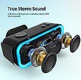 DOSS SoundBox Pro Wireless Bluetooth Speaker, 20W Speaker with 360° Sound, Enhanced Bass, Stereo Pairing, Multiple LED Light, Long-Lasting Battery Life for Phone, Tablet, TV, Gift Ideas-Grey