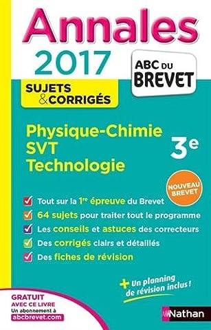 Livre Physique Chimie - Annales ABC du BREVET 2017 Physique-Chimie SVT