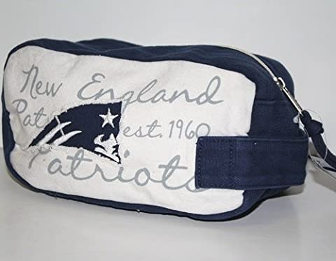NFL New England Patriots Canvas Applique Cosmetic Bag