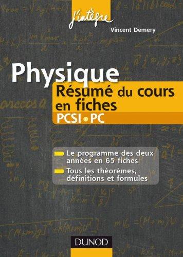 Physique Résumé du cours en fiches PCSI-PC